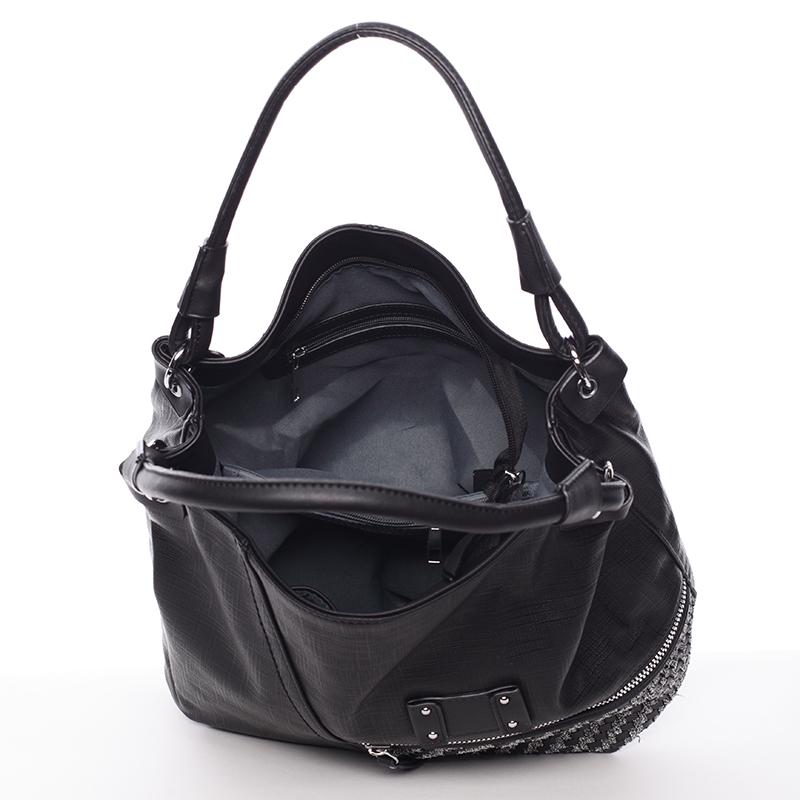 Trendová kabelka přes rameno Roberta, černá