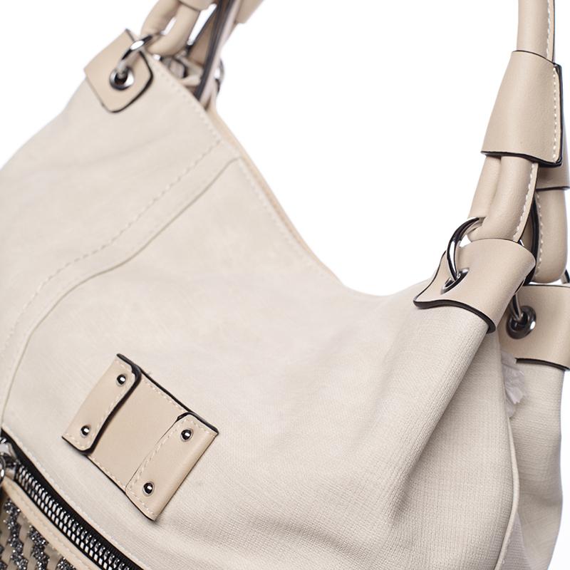 Trendová kabelka přes rameno Roberta, krémová