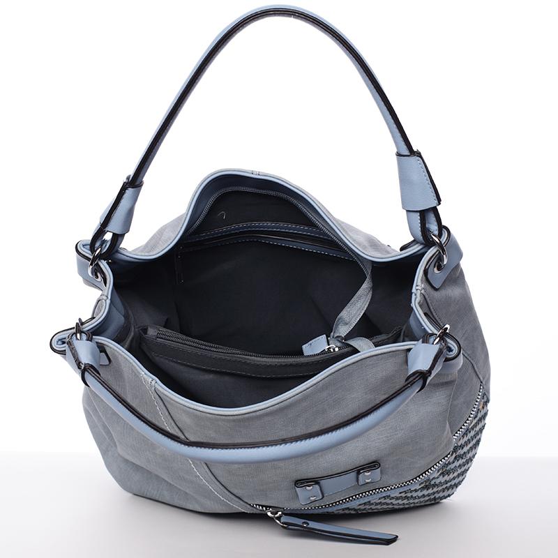 Trendová kabelka přes rameno Roberta, světle modrá