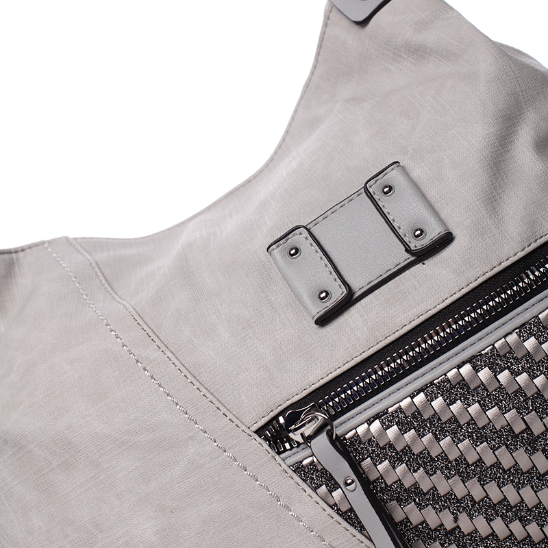 Trendová kabelka přes rameno Roberta, šedá