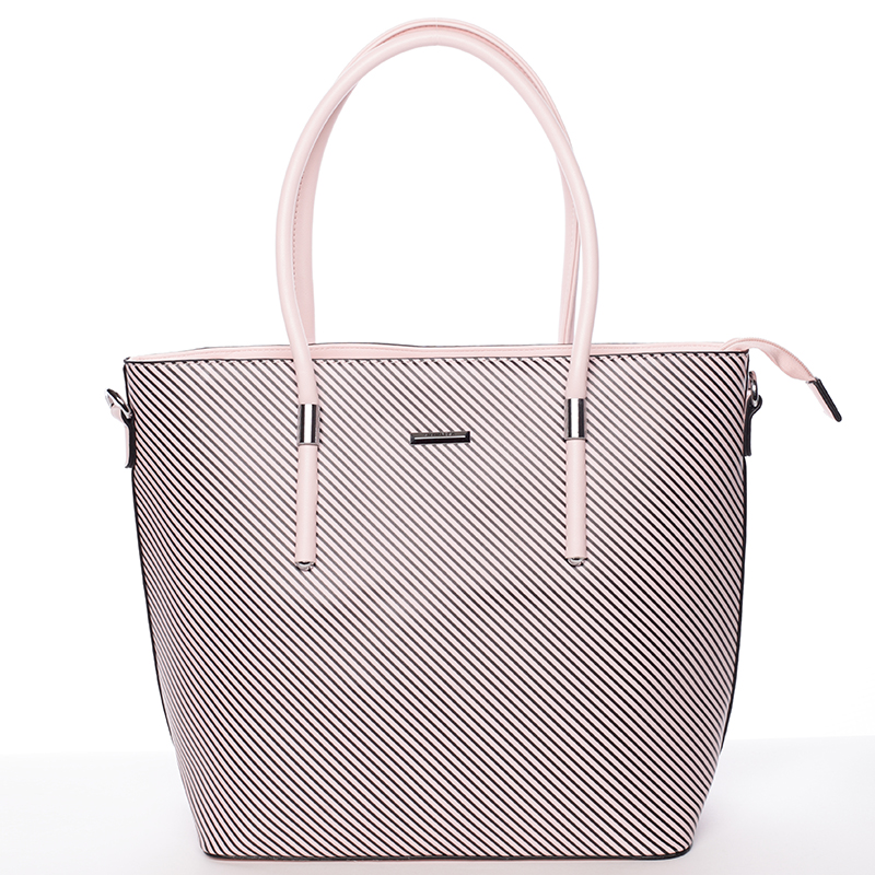 Stylová kabelka Silvia Rosa Jessica, světle růžová