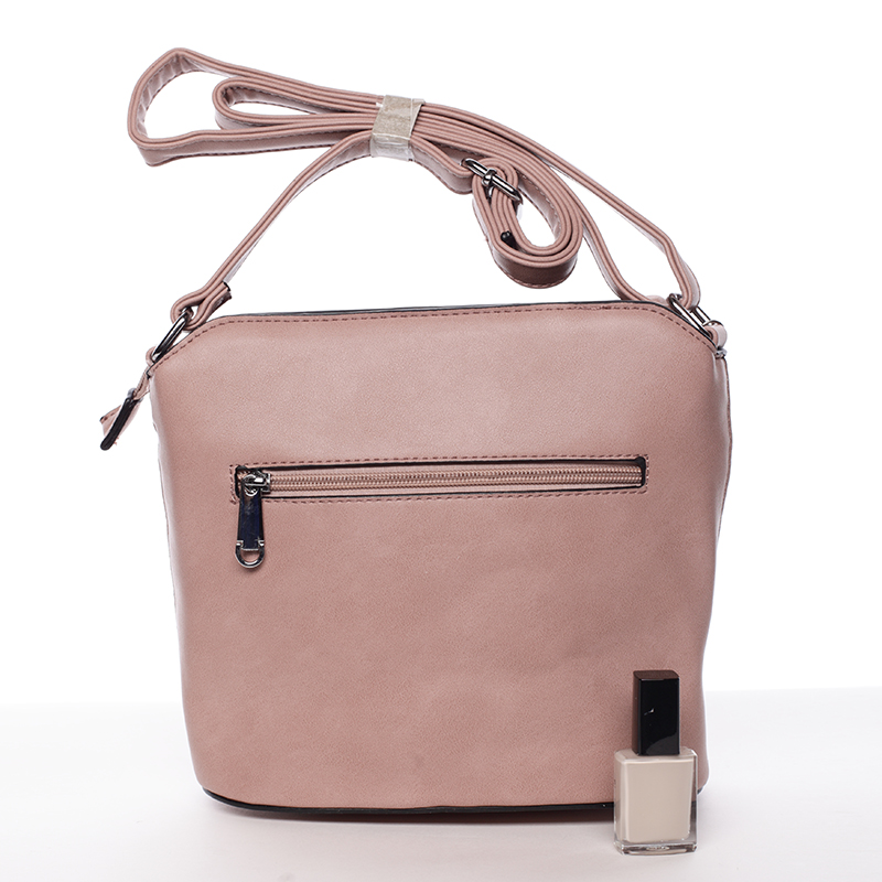 Pevná crossbody kabelka Beatrice, růžová