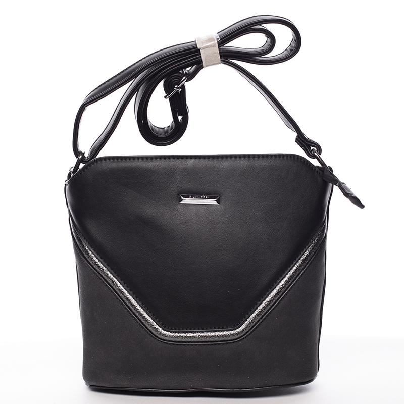 Pevná crossbody kabelka Beatrice, černá