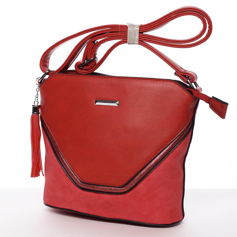 Pevná crossbody kabelka Beatrice, červená