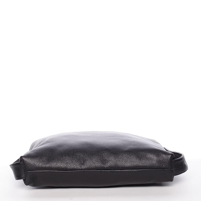 Stylová kožená kabelka přes rameno Vanessa, černá