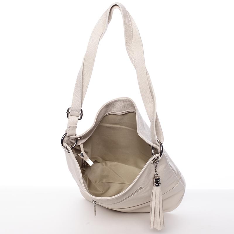Moderní kabelka Erica,  krémová