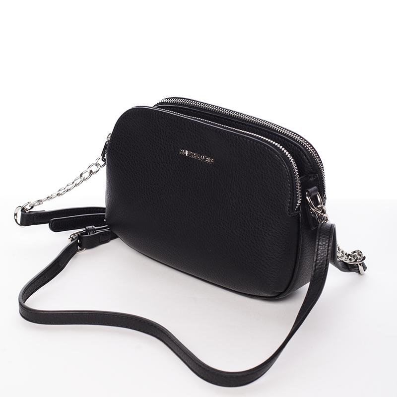 Originální crossbody kabelka menší velikosti  Stefania, černé