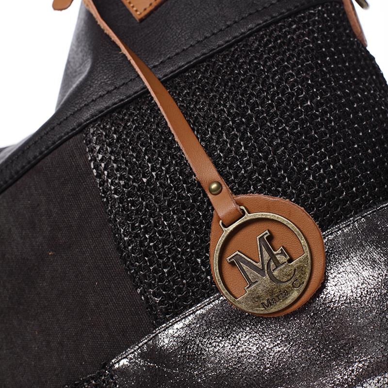 Trendy dámská kabelka přes rameno Giada, černá