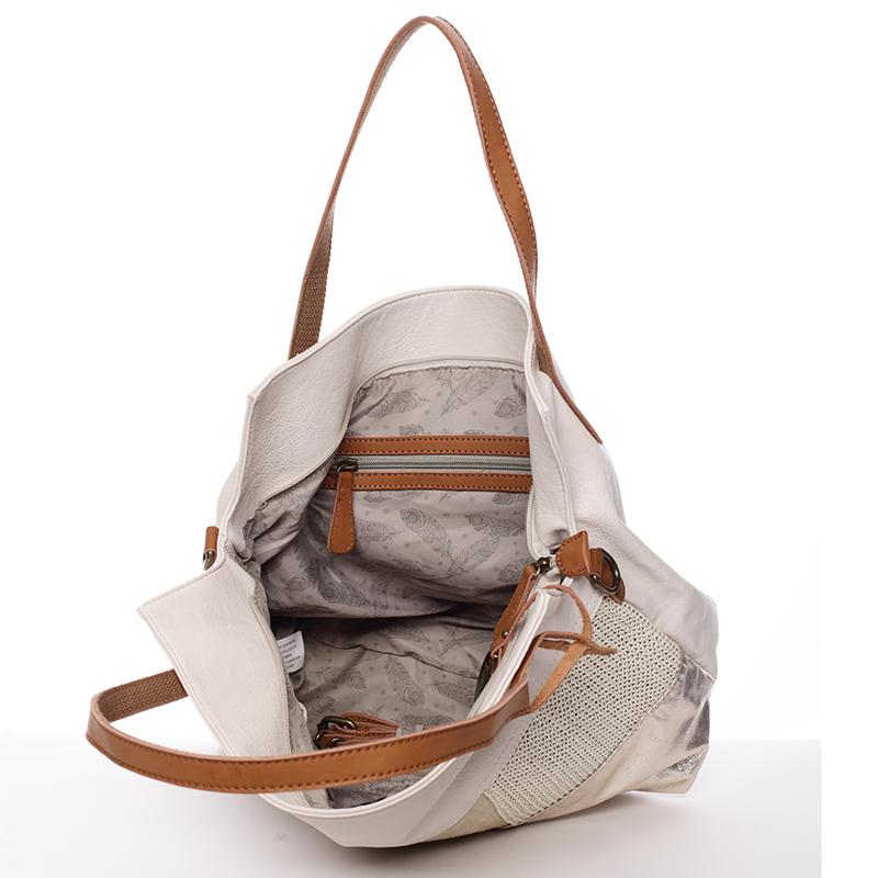 Trendy dámská kabelka přes rameno Giada, béžová