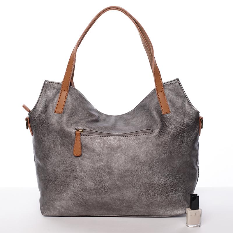Trendy dámská kabelka přes rameno Giada, tmavě šedá