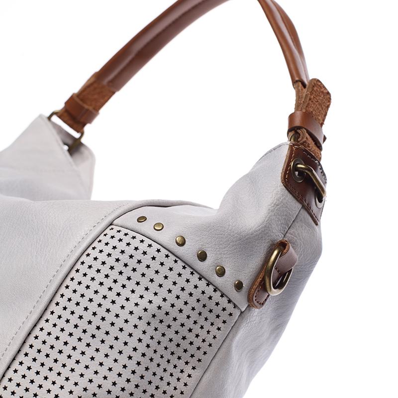 Módní kabelka do ruky i přes rameno Valentina, šedá