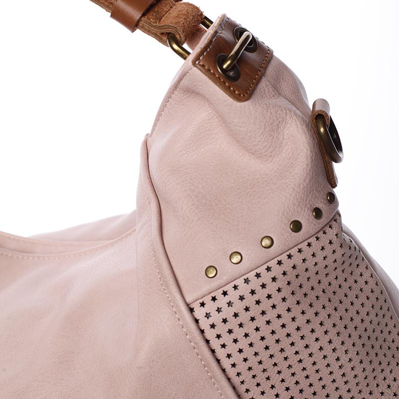 Módní kabelka do ruky i přes rameno Valentina, růžová