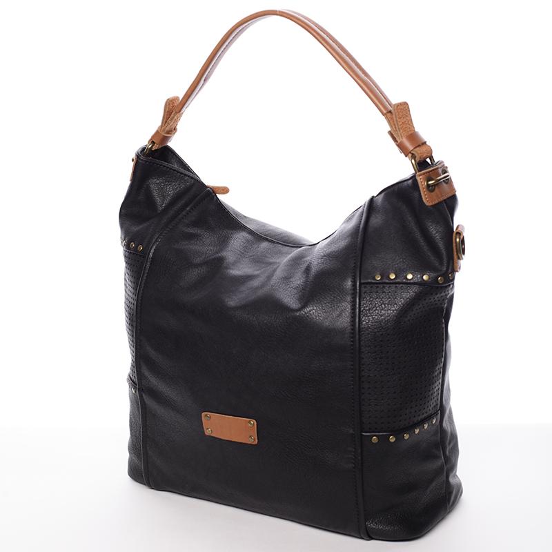 Módní kabelka do ruky i přes rameno Valentina, černá