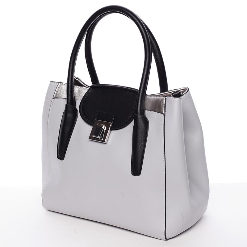 Elegantní kabelka do ruky Alana, šedá