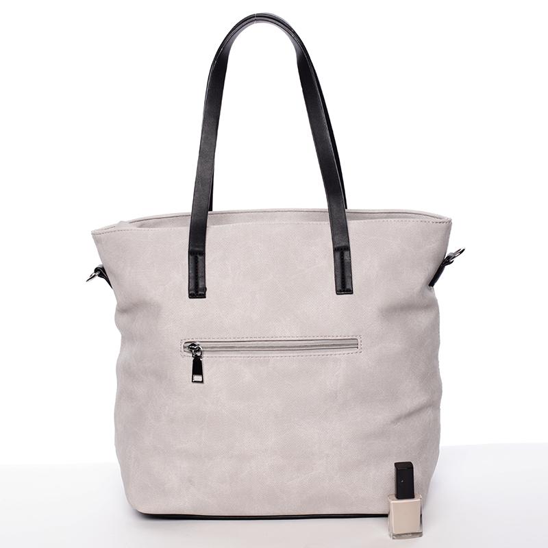 Prostorná stylová kabelka Elizabeth, šedá