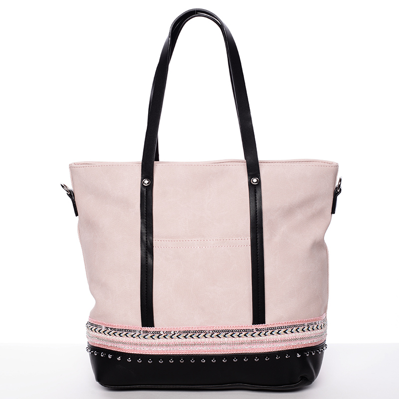 Prostorná stylová kabelka Elizabeth, růžová
