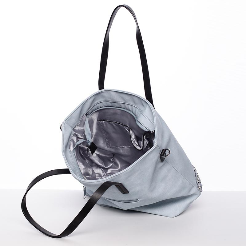 Prostorná stylová kabelka Elizabeth, modrá