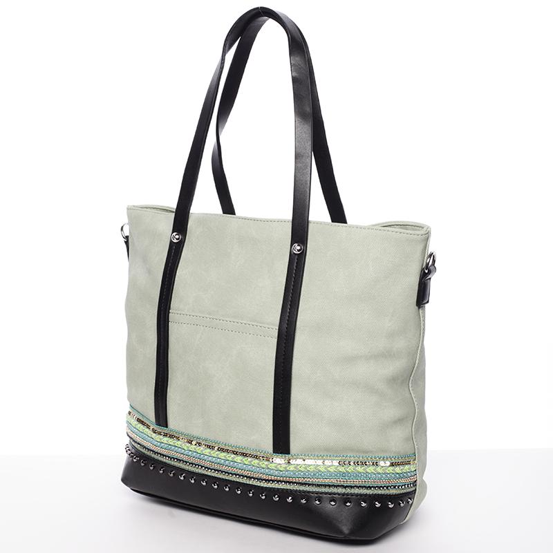 Prostorná stylová kabelka Elizabeth, zelená