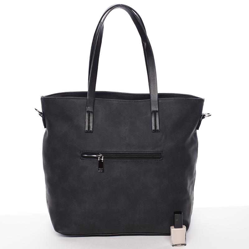 Prostorná stylová kabelka Elizabeth, černá