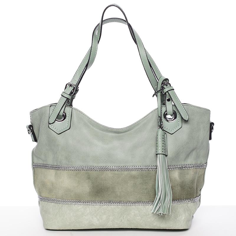 Módní kabelka Mc Mary CAROLINE, zelená