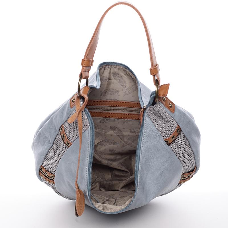 Originální dámská kabelka přes rameno  MARGUERITE, modrá
