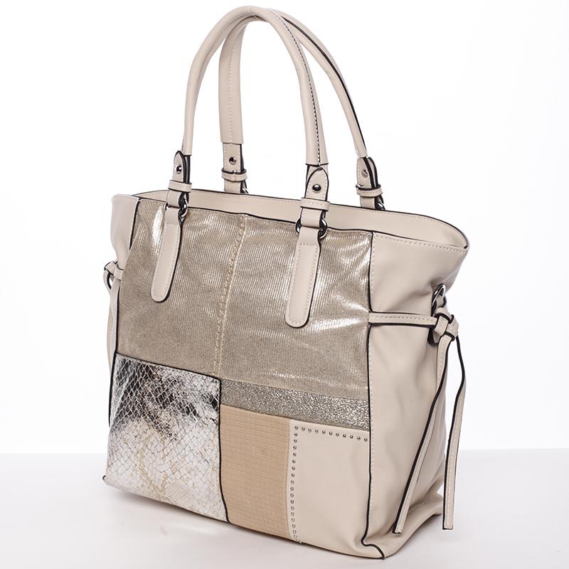 Moderní kabelka přes rameno AUDREY,  zlatá