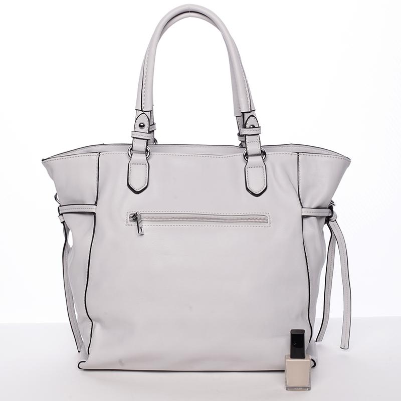 Moderní kabelka přes rameno AUDREY,  šedá
