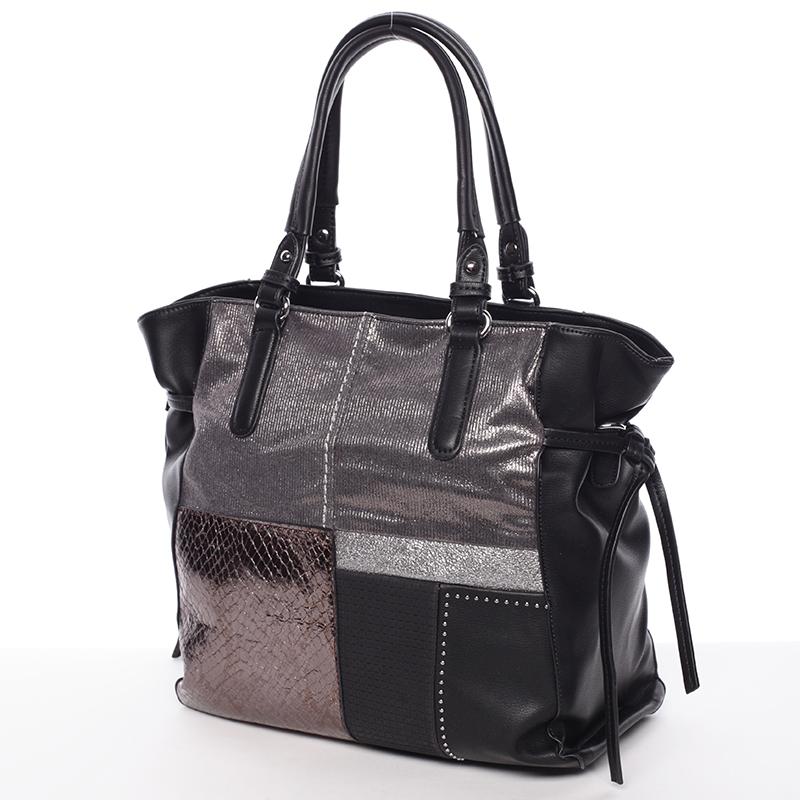 Moderní kabelka přes rameno AUDREY, černá
