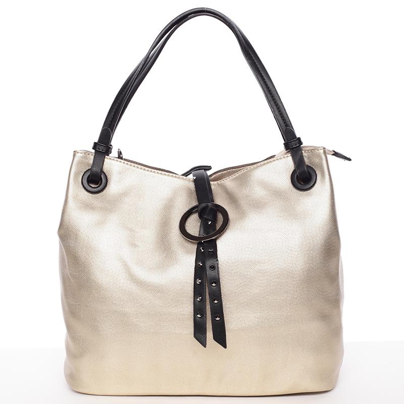 Velice módní kabelka Fatima, zlatá