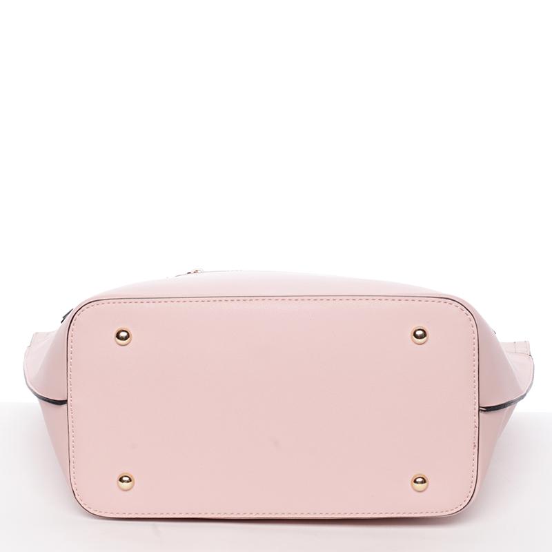 Trendy dámská kabelka přes raameno Tommasini GENEVIEVE, růžová