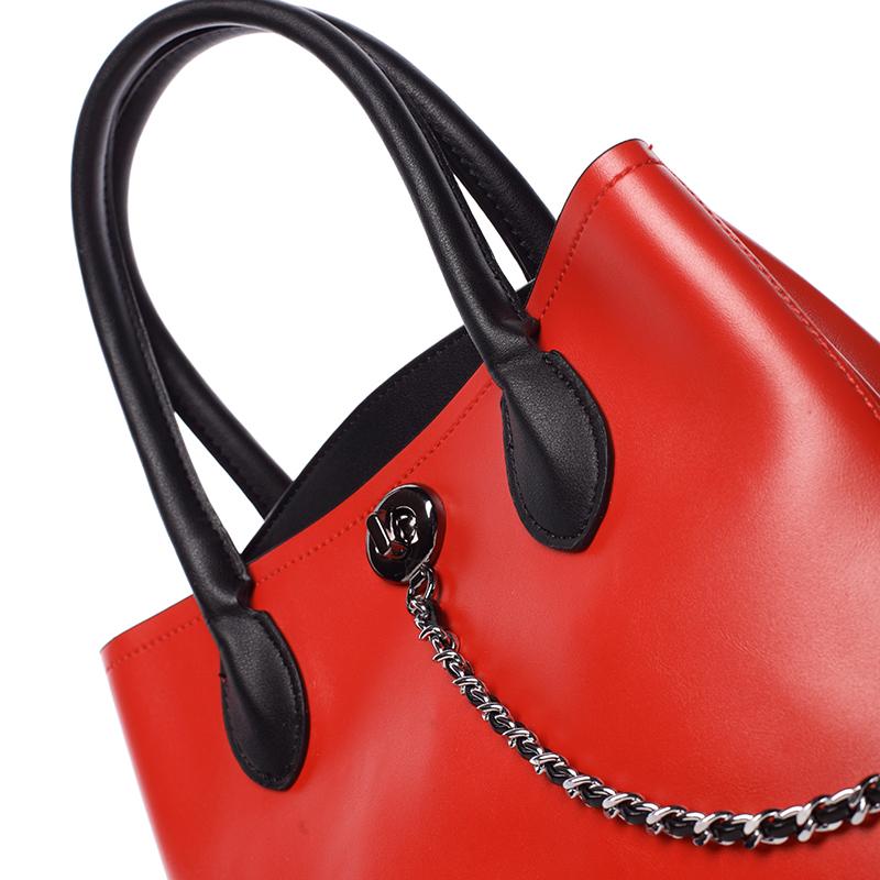 Dámská elegantní kabelka Tommasini Amalia, červená
