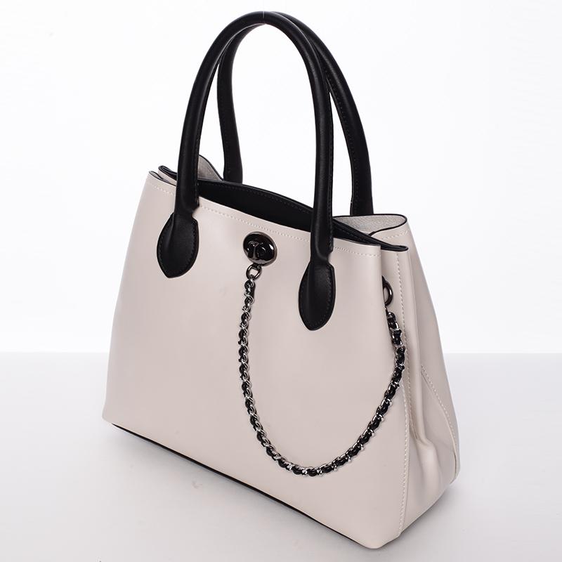 Dámská elegantní kabelka Tommasini Amalia, béžová