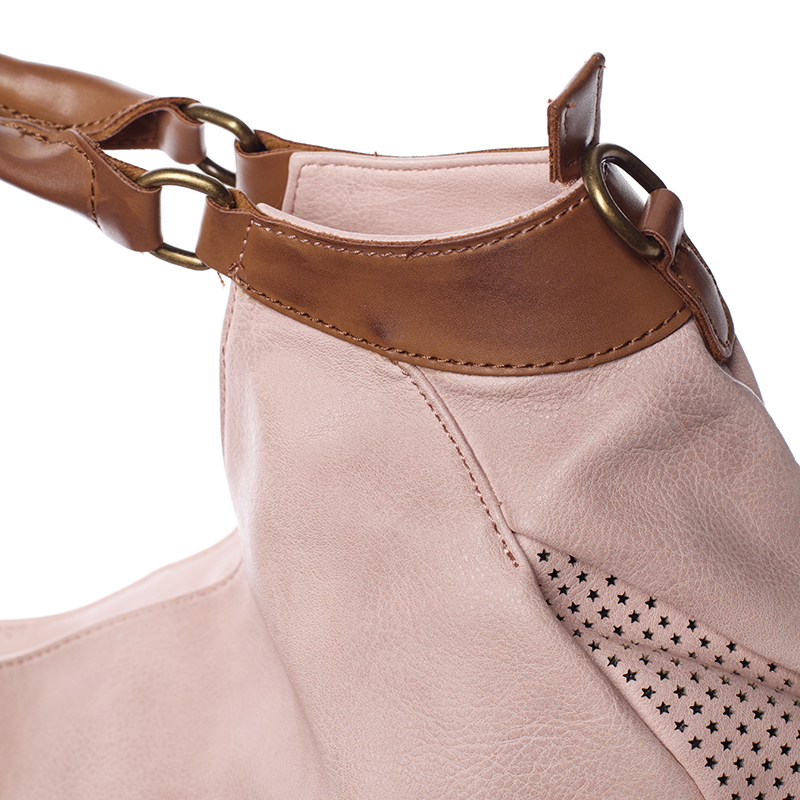 Luxusní nadčasová kabelka přes rameno Belén, růžová