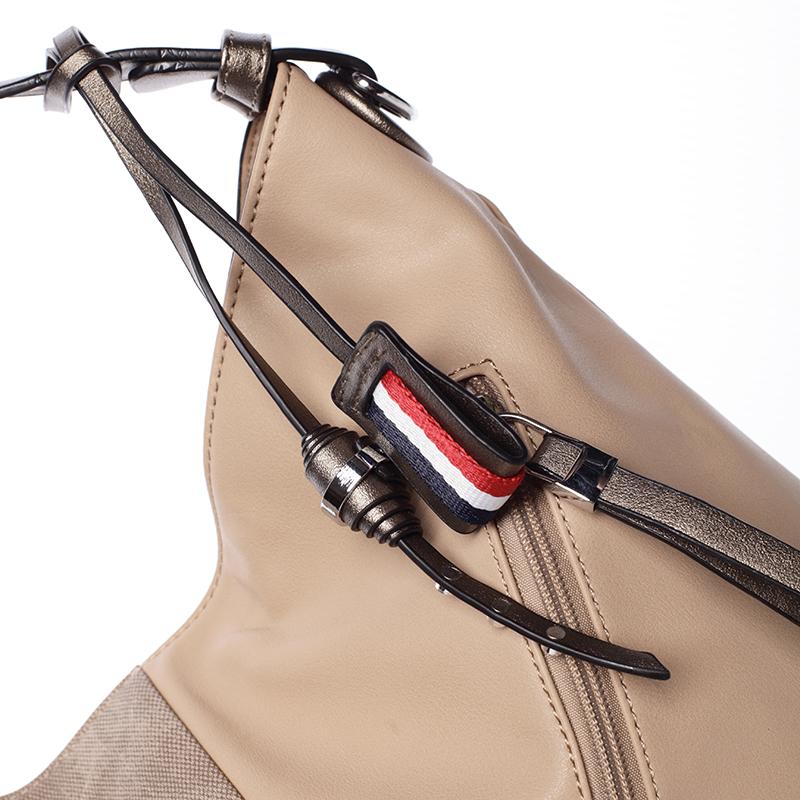 Originální dámská kabelka přes rameno Bárbara, meruňková