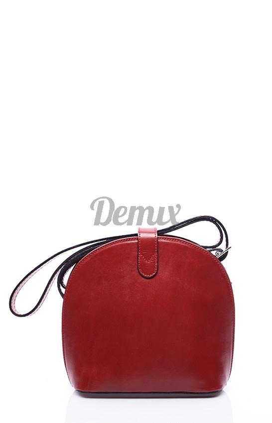 Dámská kožená crossbody Serena red