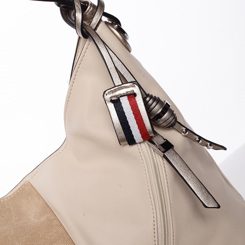 Originální dámská kabelka přes rameno Bárbara, béžová