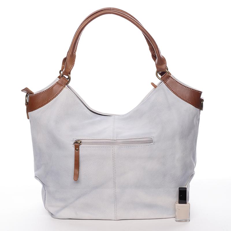 Luxusní nadčasová kabelka přes rameno Belén, šedá