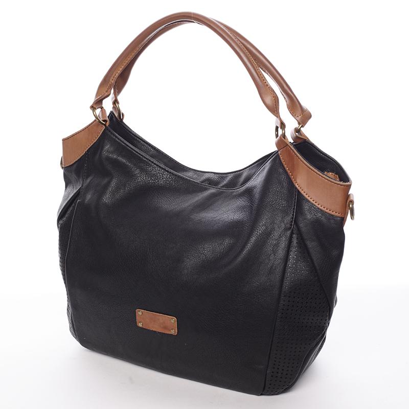 Luxusní nadčasová kabelka přes rameno Belén, černá