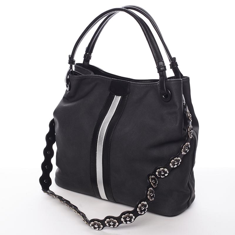 Černá módní kabelka přes rameno Cleopatra