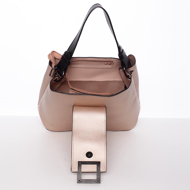 Luxusní kabelka Tommasini Esperanza, růžově-zlatá