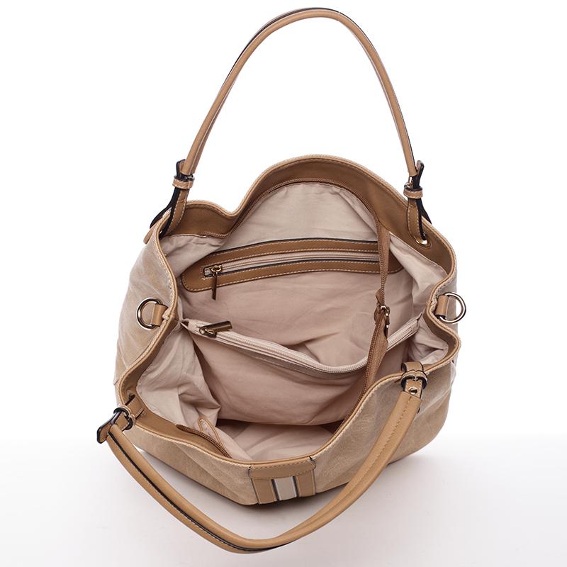 Meruňková módní kabelka přes rameno Cleopatra
