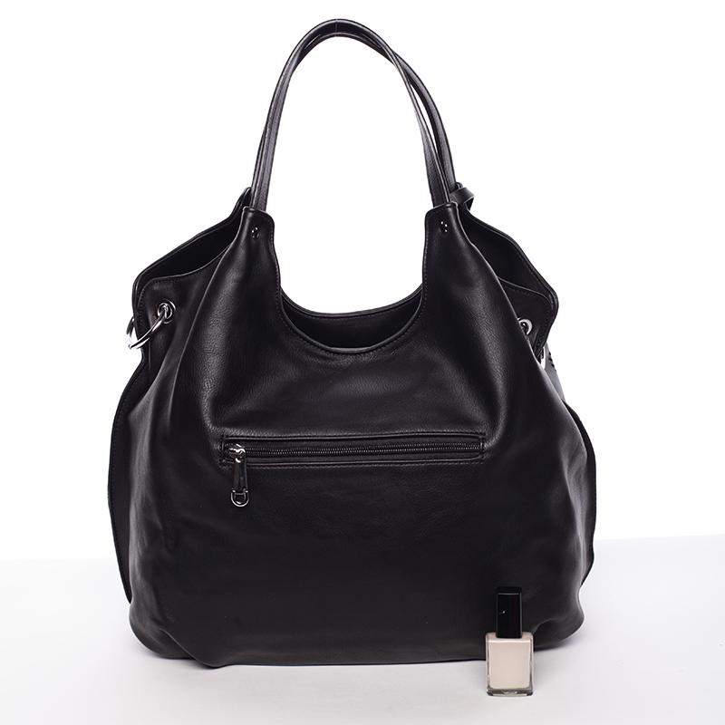 Moderní vzorovaná kabelka Mc Mary Felicitas, černá