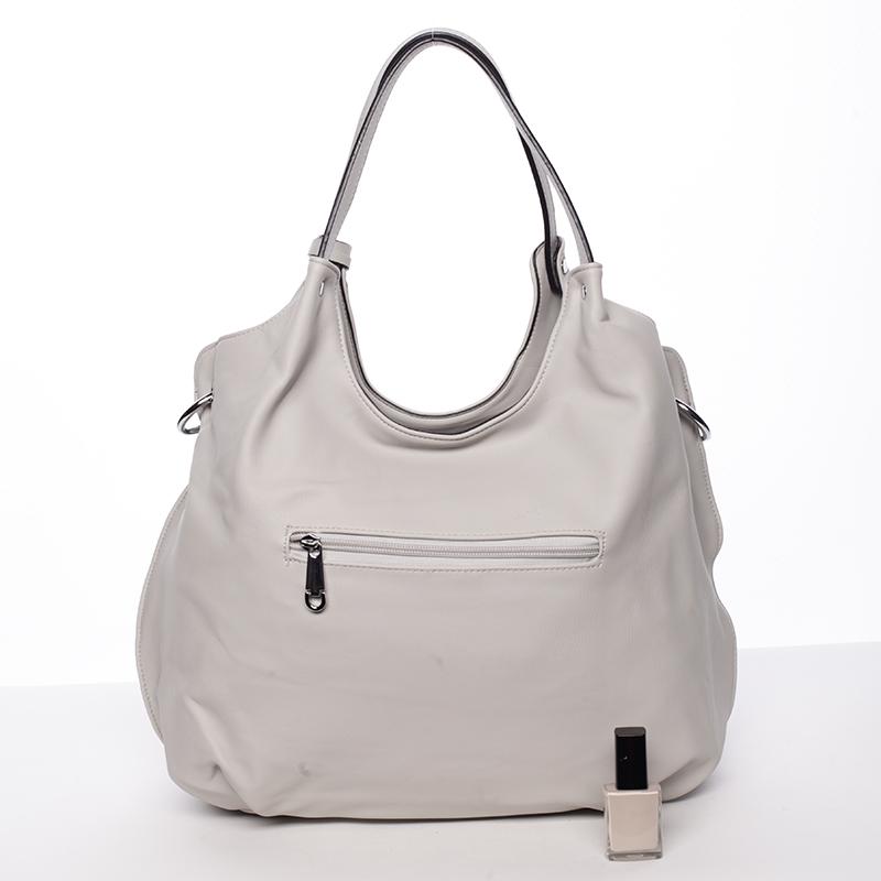 Moderní vzorovaná kabelka Mc Mary Felicitas, šedá