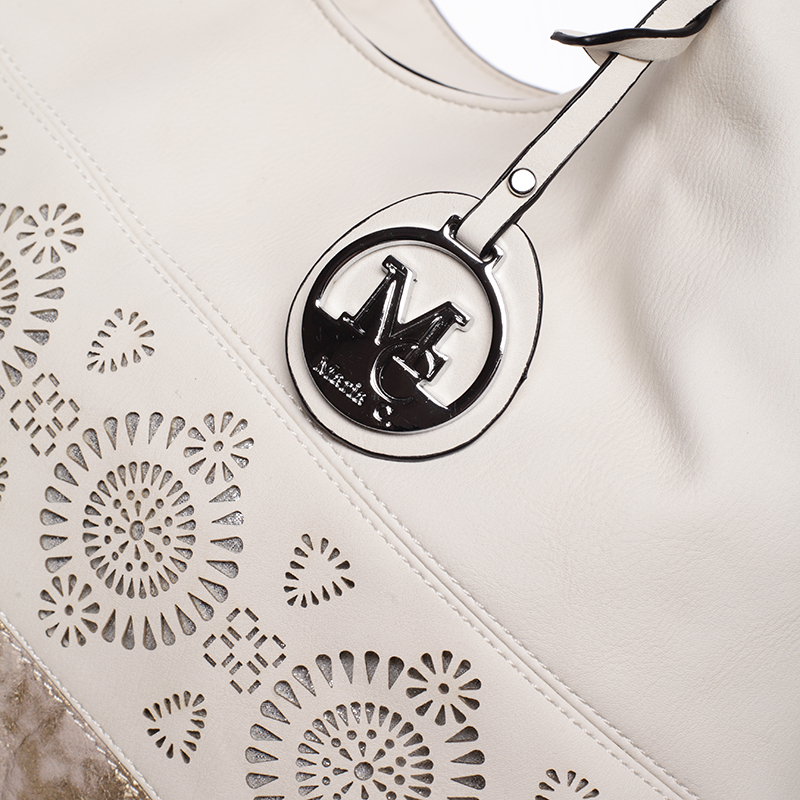 Moderní vzorovaná kabelka Mc Mary Felicitas, béžová