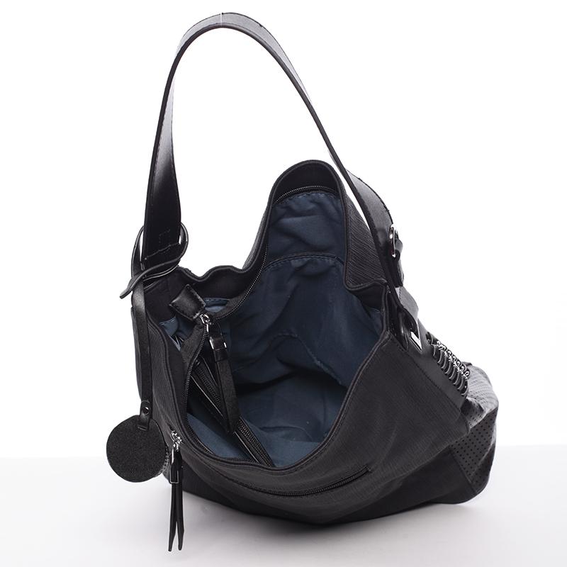 Jenoduchá trendy kabelka Mc Mary Estafania, černá