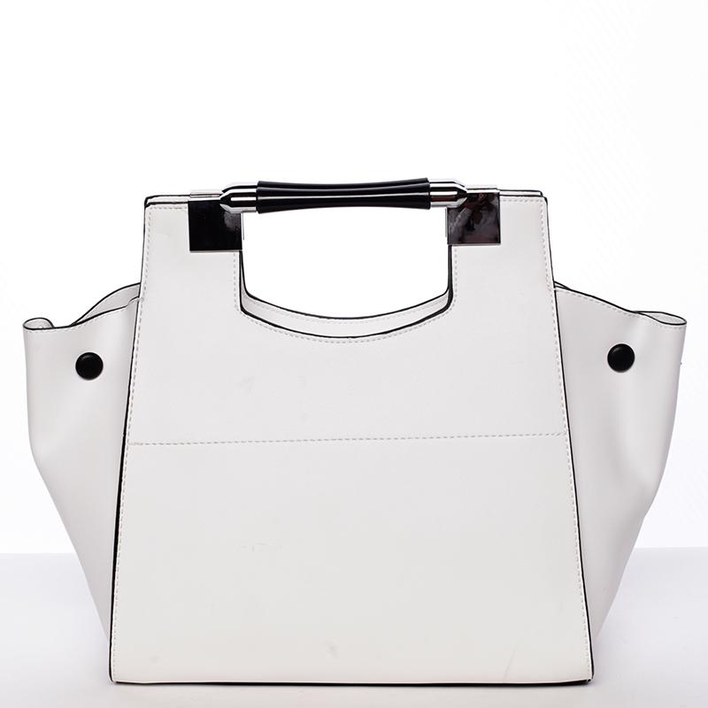 Extravagantní kabelka Tommasini Perla, bílá