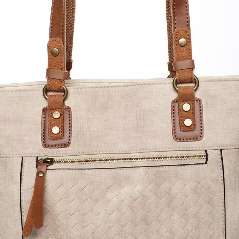 Praktická dámská kabelka Pamela, krémová
