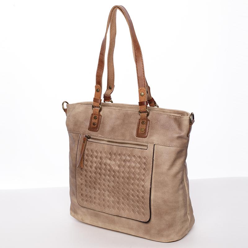 Praktická dámská kabelka Pamela, světle oříšková