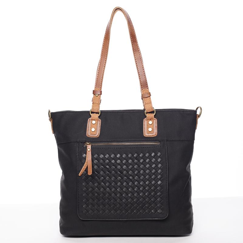Praktická dámská kabelka Pamela, černá