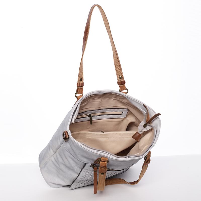 Praktická dámská kabelka Pamela, šedá